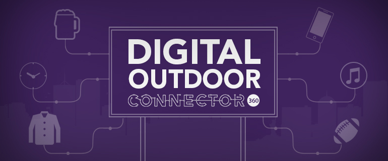 connector360 digital outdoor solution with innovative mobile app management system